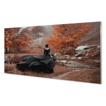Obrazy akrylowe Kobieta jesień góry