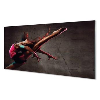 Obrazy akrylowe Kobieta szpagat
