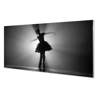 Obrazy akrylowe Baletnica szare tło