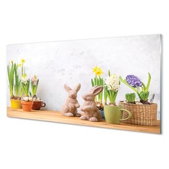 Obrazy akrylowe Kwiaty króliki