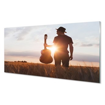 Obrazy akrylowe Gitara człowiek