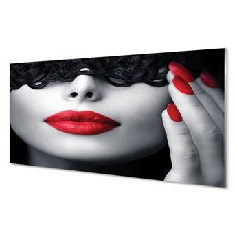 Obrazy akrylowe Czerwone usta kobieta