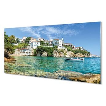 Obrazy akrylowe Grecja Morze miasto natura