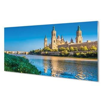 Obrazy akrylowe Hiszpania Katedra rzeka