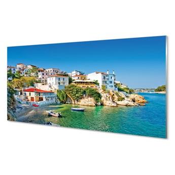 Obrazy akrylowe Grecja Wybrzeże budynki morze