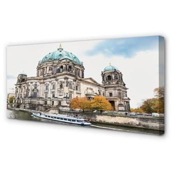 Obraz na płótnie Niemcy Katedra rzeka berlin