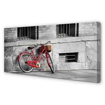 Obrazy na płótnie Rower czerwony z koszykiem