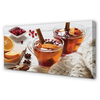 Obraz na płótnie Herbata zimowa kubek
