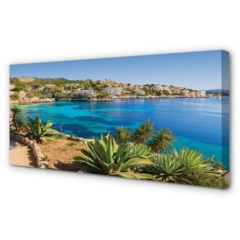 Obraz na płótnie Hiszpania Wybrzeże miasto morze