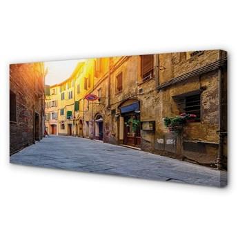 Obraz na płótnie Włochy Ulica budynki