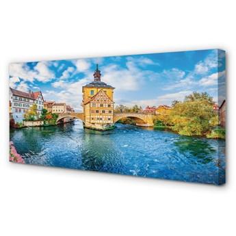 Obraz na płótnie Niemcy Rzeka mosty stare miasto