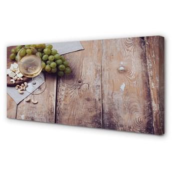 Obraz na płótnie Kieliszek orzechy winogrona