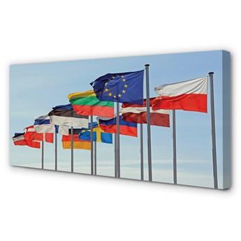 Obraz na płótnie Dużo flag