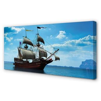 Obrazy na płótnie Statek niebo chmury morze