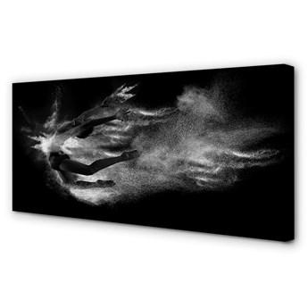 Obrazy na płótnie Kobieta balet dym szare tło
