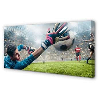 Obrazy na płótnie Człowiek obrona piłka