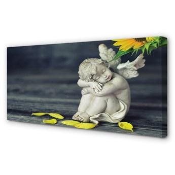 Obrazy na płótnie Śpiący anioł słonecznik