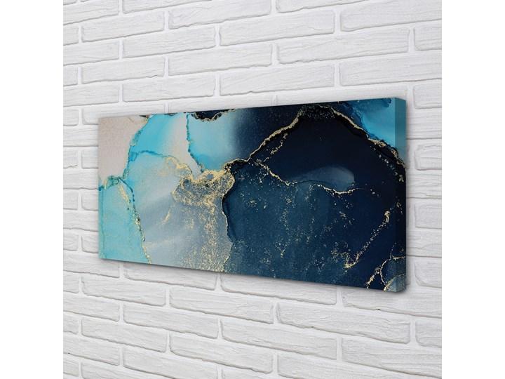 Obrazy na płótnie Kamień marmur abstrakcja Kolor Granatowy Wymiary 50x125 cm