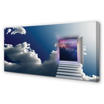 Obrazy na płótnie Niebo schody oko