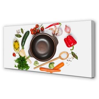 Obrazy na płótnie Łyżka pomidorki pietruszka