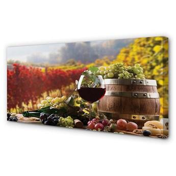 Obraz na płótnie Jesień wino kieliszek