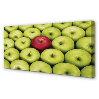 Obrazy na płótnie Zielone i czerwone jabłka