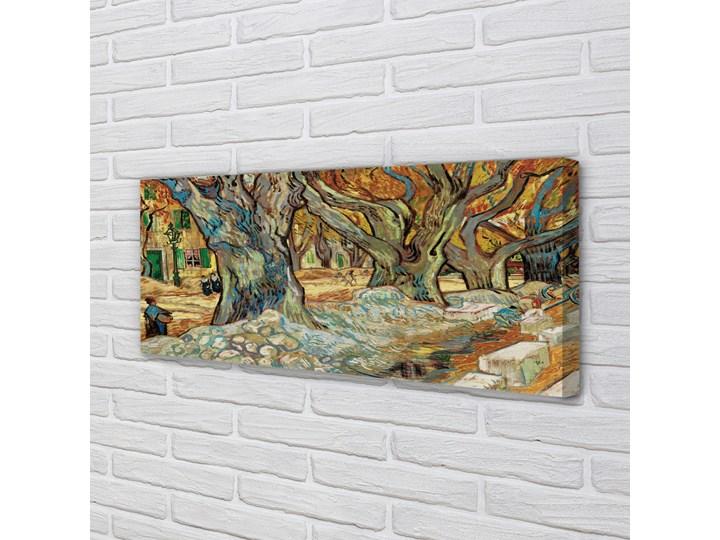Obrazy na płótnie Sztuka abstrakcyjny miejski rynek Wymiary 50x125 cm Pomieszczenie Salon