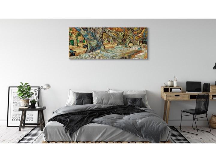 Obrazy na płótnie Sztuka abstrakcyjny miejski rynek Wymiary 60x120 cm