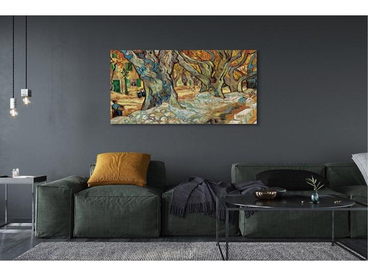 Obrazy na płótnie Sztuka abstrakcyjny miejski rynek Kolor Brązowy Wymiary 60x120 cm