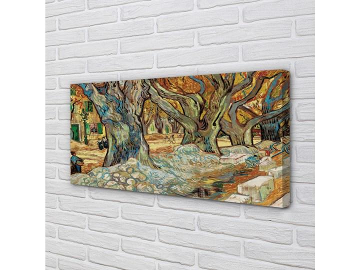 Obrazy na płótnie Sztuka abstrakcyjny miejski rynek Wymiary 50x125 cm