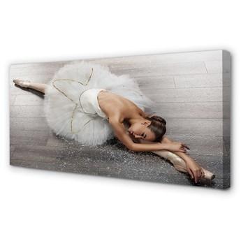 Obraz na płótnie Kobieta biała sukienka baletnica