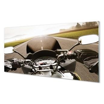 Obrazy na szkle Motocykl droga niebo góry