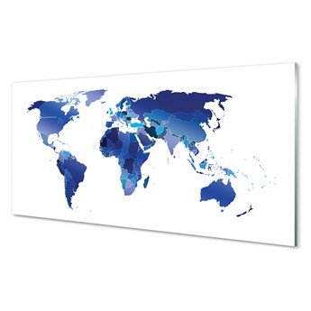 Obrazy na szkle Niebieska mapa