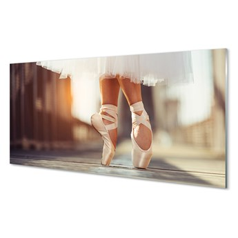 Obraz na szkle Białe baletki kobieta nogi