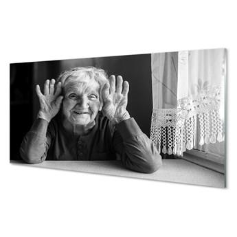 Obraz na szkle Starsza kobieta
