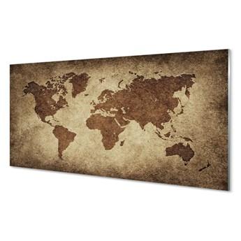 Obraz na szkle Szara mapa