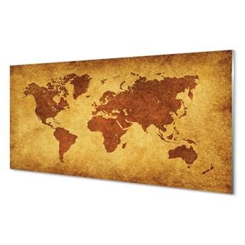 Obraz na szkle Stara brązowa mapa