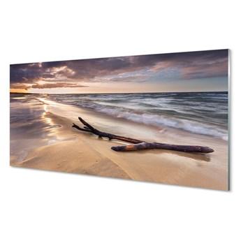 Obraz na szkle Gdańsk Plaża morze zachód słońca