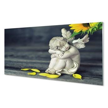 Obrazy na szkle Śpiący anioł słonecznik