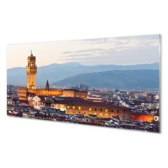 Obrazy na szkle Włochy Zamek panorama zachód słońca