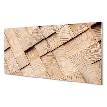 Obraz na szkle Drewno słoje skład