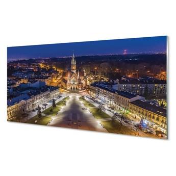 Obrazy na szkle Kraków Noc kościół panorama