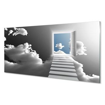Obraz na szkle Niebo schody drzwi