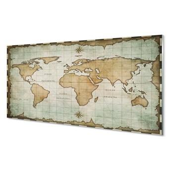Obraz na szkle Przypalona mapa