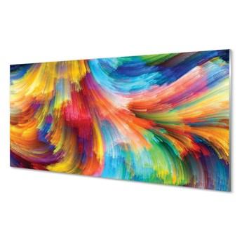 Obrazy na szkle Kolorowe nieregularne paski fraktale
