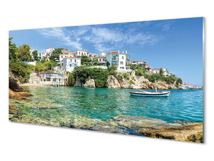 Obrazy na szkle Grecja Morze miasto natura Wymiary 70x140 cm Wymiary 50x125 cm