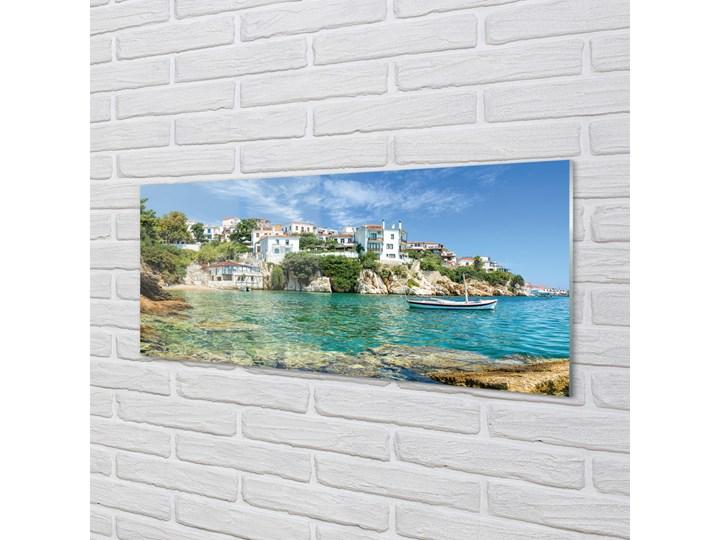 Obrazy na szkle Grecja Morze miasto natura Wzór Miasta