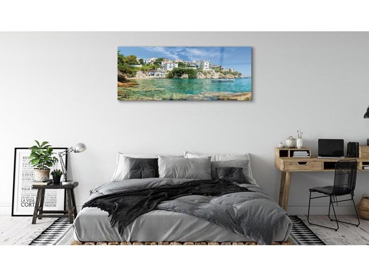 Obrazy na szkle Grecja Morze miasto natura Wymiary 70x140 cm