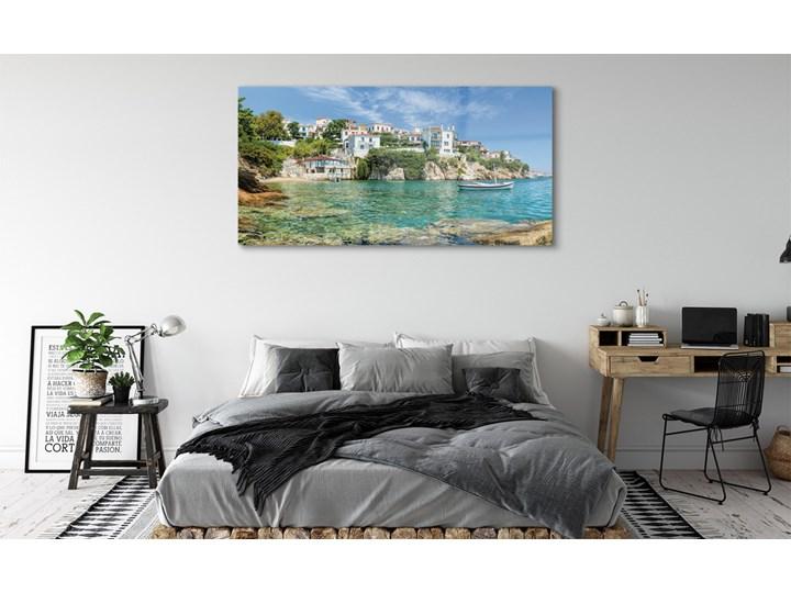 Obrazy na szkle Grecja Morze miasto natura Pomieszczenie Salon Wymiary 50x100 cm