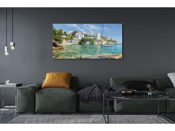 Obrazy na szkle Grecja Morze miasto natura Wzór Miasta Wymiary 50x125 cm